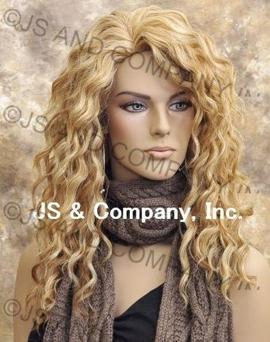 Human Hair Blend Wig Long Wavy Blonde Mix Heat Resistant sfa 27/613
