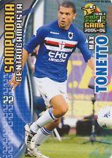N°166 MAX TONETTO # ITALIA SAMPDORIA CARD PANINI CALCIO 2006