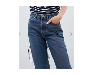 fashion cute cheap purchase cheap Details about ASOS DESIGN Recycled Florence authentic straight leg jeans in  london blue wash