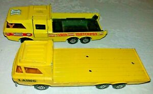 Matchbox-Superkings-construccion-y-transportadores-coche-de-carreras-K7-K36-1972-y-1974
