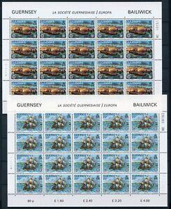 Guernsey-Kleinboegen-MiNr-246-47-postfrisch-MNH-Cept-CB694