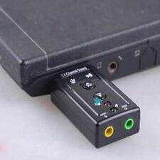 USB ESTERNO 3D VIRTUAL 7.1 CANALI AUDIO PC LAPTOP SCHEDA AUDIO ADATTATORE GG