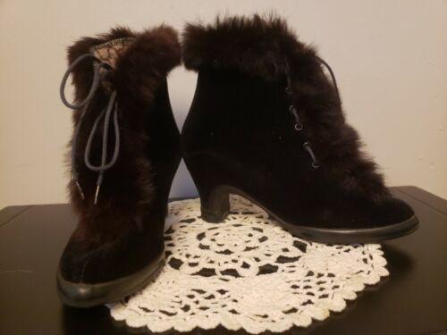 VTG Gaytees 1930's Rubber Overshoe Boots Size 6 Bl