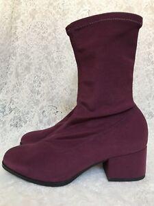 Vagabond Daisy Burgundy Stretch Sock