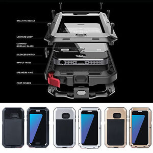 Aluminum-Metal-Shockproof-Gorilla-Glass-Case-Cover-For-Samsung-Galaxy-S6-Edge-S7