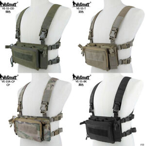 WoSporT-Hunting-Tactical-Quick-Release-Vest-Chest-Rig-For-Tactical-Vest-Backpack