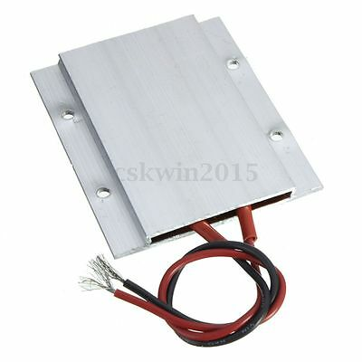 12V 60W 180C Aluminum PTC Heating Element Thermostat Heater Plate 77 x 62 x 6mm