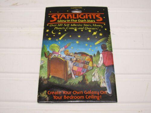 Vintage STARLIGHTS Glow In The Dark Bedroom Ceiling Stars 1987 New//old Stock