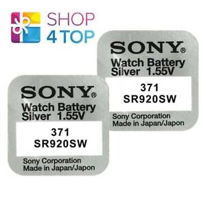 2-SONY-371-SR920SW-BATTERIES-SILVER-OXIDE-1-55V-WATCH-BATTERY-EXP-2021-NEW
