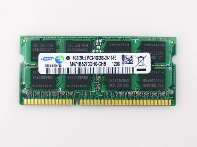 Wholesale SAMSUNG 4GB 2Rx8 PC3-10600S DDR3 1333MHz 204Pin So-Dimm Laptop Memory