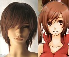 Vocaloid Meiko Cosplay Short Auburn Brown Wig Z0022