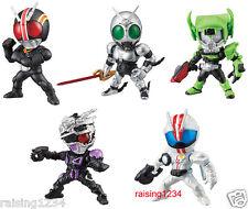 BANDAI Kamen Masked Rider Advance Gashapon Figure 5 (Set of 5) Black Shadow Moon