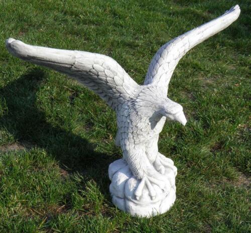 Steinadler Steinfigur Adler Vogel Statue Skulptur Gartenfigur BLACKFORM