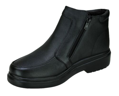 Diamant Schuhe Stiefel Schwarz Herren Casual Winter Schuhe mit Pelz