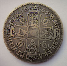 English Silver Half-Crown 2/6 half Crown coin -  Charles II 1663 - VF - 354
