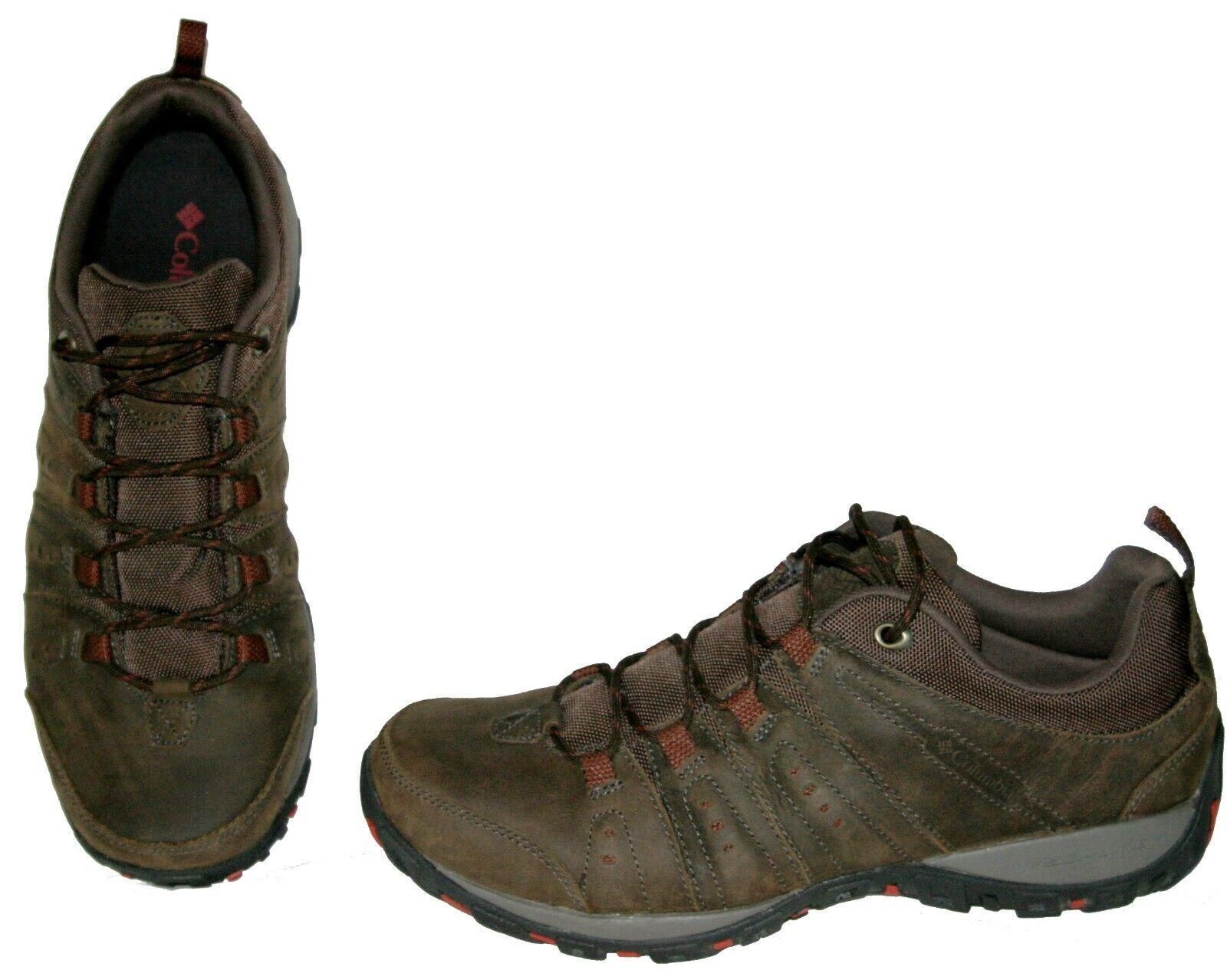 Columbia PeakFreak Woodburn Plus BM3974 231 Hiking shoes Brown Leather 11 Men A+
