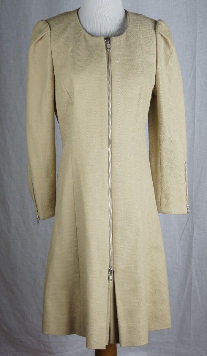 J Crew Coat Size 6 Fit and Flare Coat Khaki Sample New