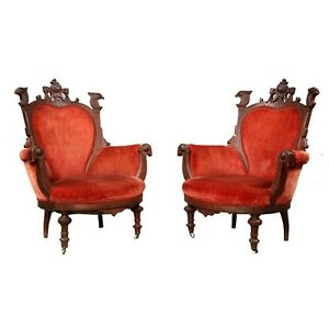 Pair-of-American-Victorian-Eagle-Antique-Arm-Chairs-1800-1899-7144