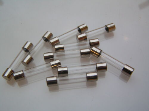 RANGE OF 32MM QUICK BLOW FUSES 100mA 20A GLASS 10 PIECES  OLB017