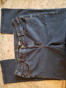 Lane-Bryant-Women-s-Genius-Fit-Jeans-Slim-Boot-Cut-Dark-Wash-22-Average