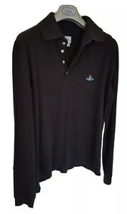 Mens-chic-MAN-by-VIVIENNE-WESTWOOD-long-sleeve-polo-shirt-size-XL-large-RRP-195