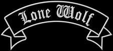 Banner Rocker LONE WOLF XL iron-on Aufnäher patch