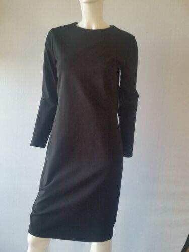 schede maat 34 mouw lange jurk nieuw zwart uk6 Hallhuber nieuwe jurk 4wq50wY