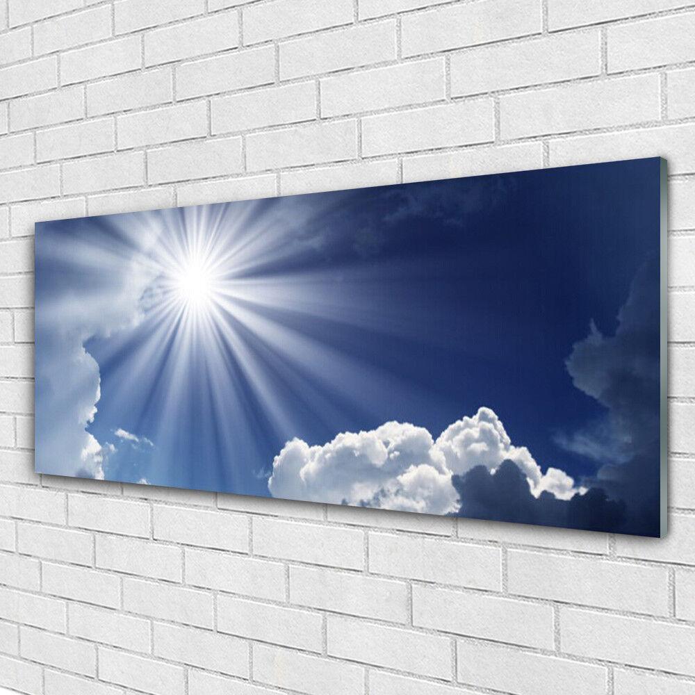 Acrylglasbilder Wandbilder aus Plexiglas® 125x50 Sonne Landschaft