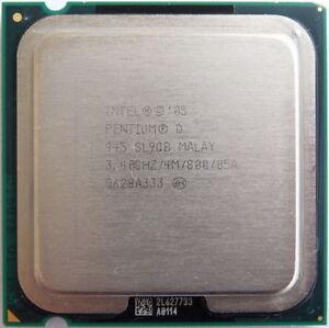 Intel Pentium D 945* SL9QQ*SL9QB* 3.4GHz/4M/800 LGA775 CPU Processor for Desktop