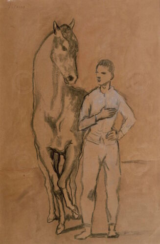Pablo Picasso Horse with a Youth in Blue 1905-6 Animal Print Poster 20x28