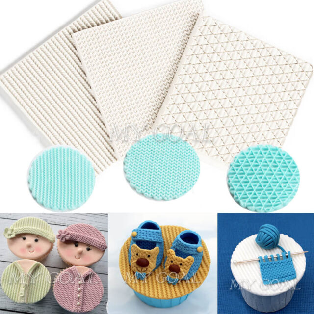Baby Knit Silicone Cake Lace Mould Weave Embossed Fondant Decor Sugar Paste Mat