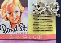 Vintage Hair Barrettes - Bow Barrette And 8 Bobby Pins
