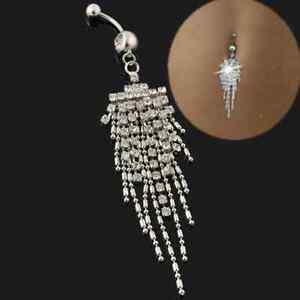 piercing tassel chain dangle navel belly