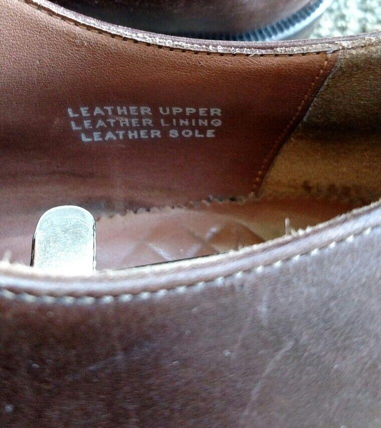 Calzoleria straight tip brown leather leather leather oxfords brogues Square cap toe size 12 Scarpe classiche da uomo 701693