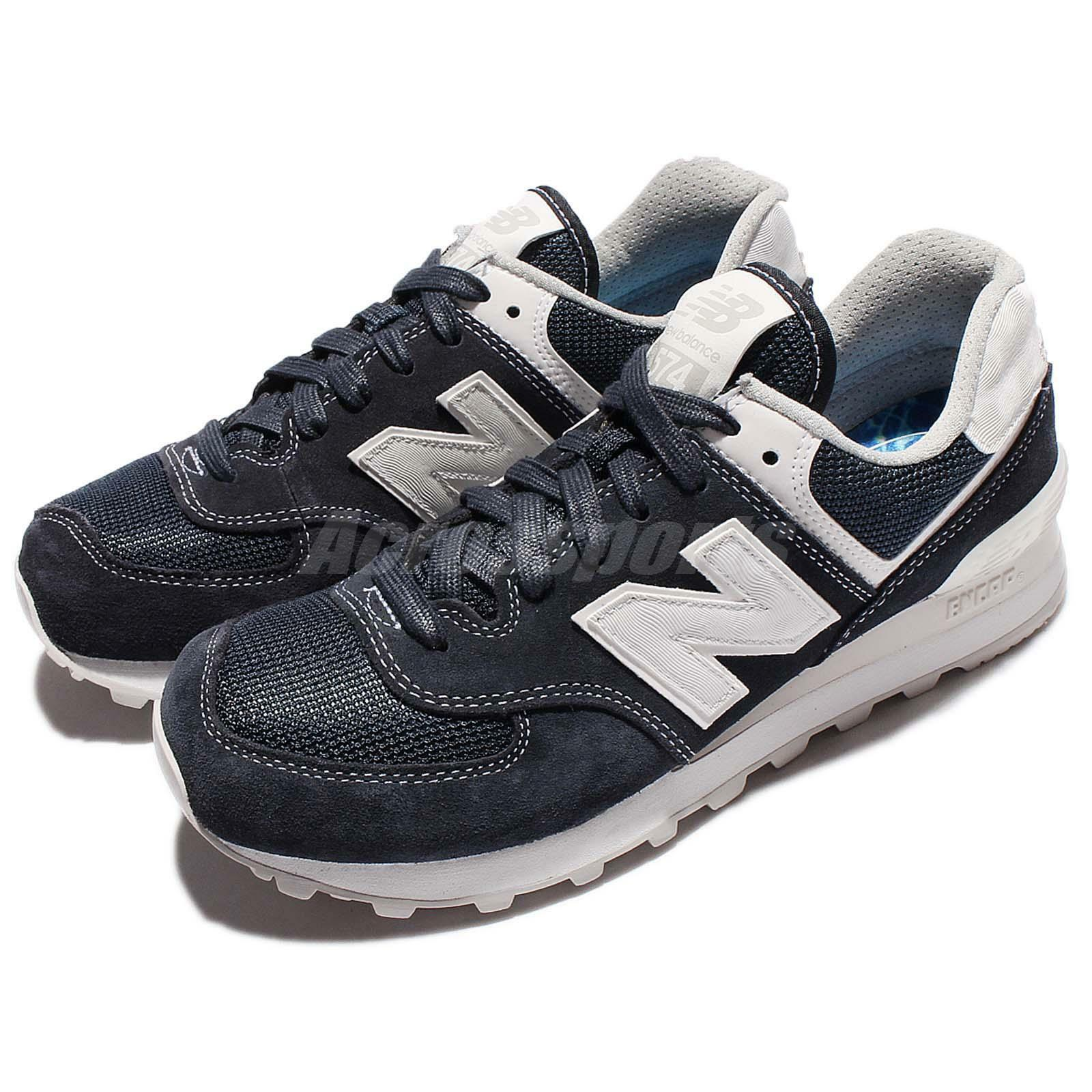 New Balance ML574SEE D bluee Suede Classic Men Running shoes Sneakers ML574SEED