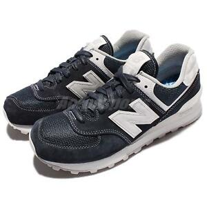New Balance ML574SEE D Blue Suede Classic Men Running Shoes Sneakers ... fdf3e8269da