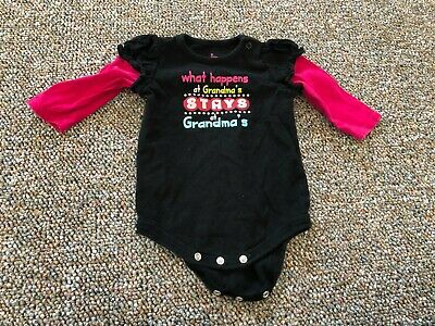 What happens at nana/'s stays at nana/'s Cute Gift Baby Bodysuit By Apparel USA™