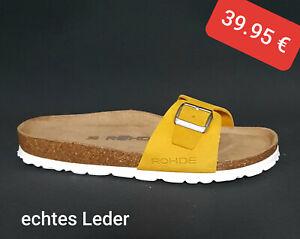 Rohde Alba 5589 Damen Sandale Sandalette Pantolette Hausschuhe Gelb