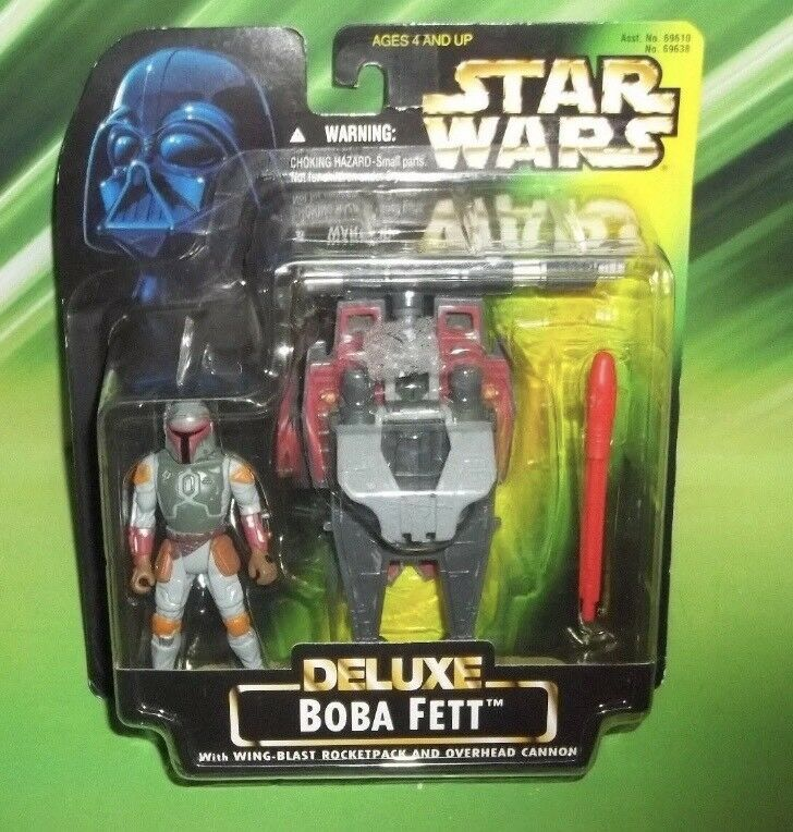 STAR WARS THE POWER OF THE FORCE DELUXE BOBA FETT FIGURE KENNER   HASBRO 1996
