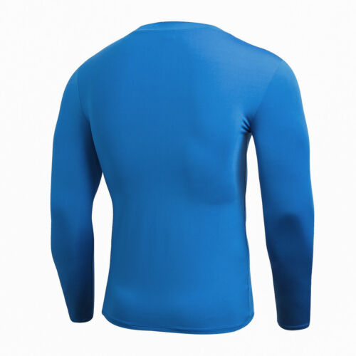 Men/'s Workout Compression Tights Long Sleeve Gym Plain Shirts Dri-fit Breathable