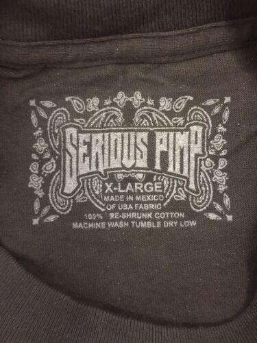 Serious Pimp BlackGold foil  Tshirt XL