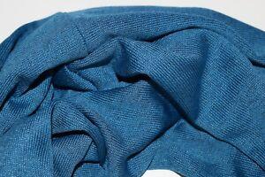 Weich,elastisch Innennaht 100 % Viskose Doppelte Lage Schneidig Schal Loop Petrol Blau
