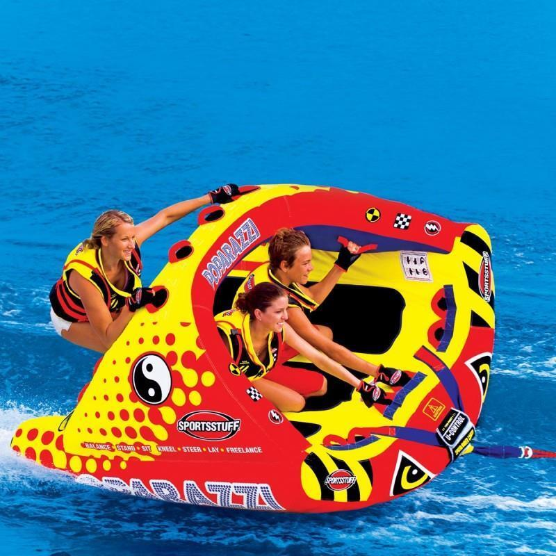 Sportsstuff poparazzi inflatable towable 3 rider