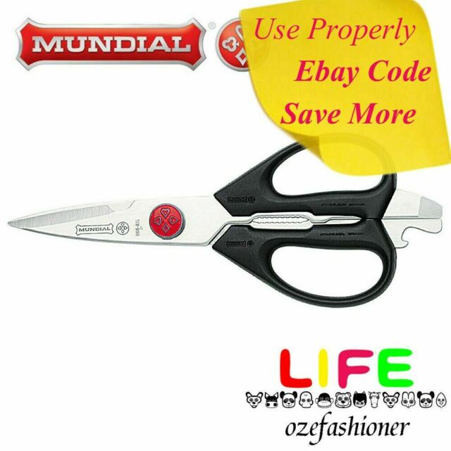 "MUNDIAL MULTI PURPOSE TAKE A PART KITCHEN SHEARS SCISSORS 8 1/2"" 21CM 20880 IS"