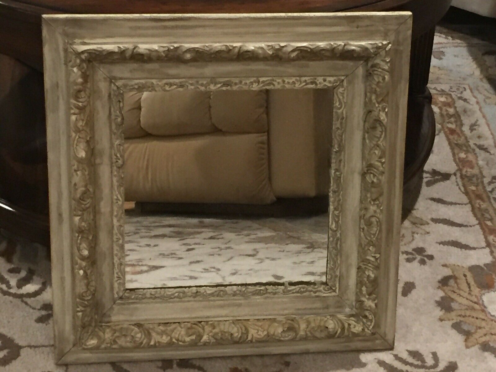Vintage Style Light Turquoise Wooden Shabby Chic Distressed Wall Mirror Hanging For Sale Online Ebay