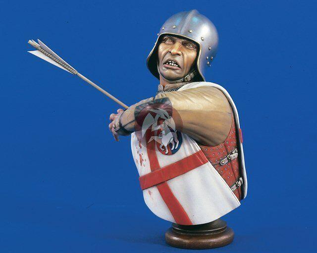 Verlinden 1 5 English Longbowman Longbow Archer ca. 1450 Shot w Arrow Bust 1552