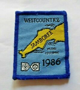 Vintage Scouts & Guides badge, West Country Jamboree 1986, Mount Edgcumbe.