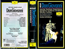 """VHS - """" Mozart - Don GIOVANNI """" (1955) - Cesare Siepi -- Wilhelm Furtwängler"""