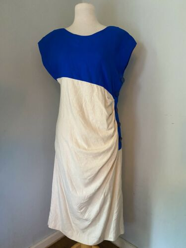 John Weitz 100% silk 80's Vintage Dress House dres