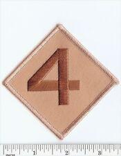 USMC 4th Marine Division desert TAN patch Marines ! 4th MarDiv subdued on Khaki!